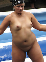 Fat nudist virgins with funny small tits - Chubby Naturists